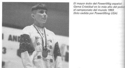 Gema Cristóbal, campeona del mundo de Powerlifting