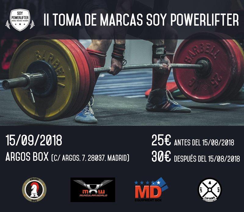 II Toma de Marcas Soy Powerlifter