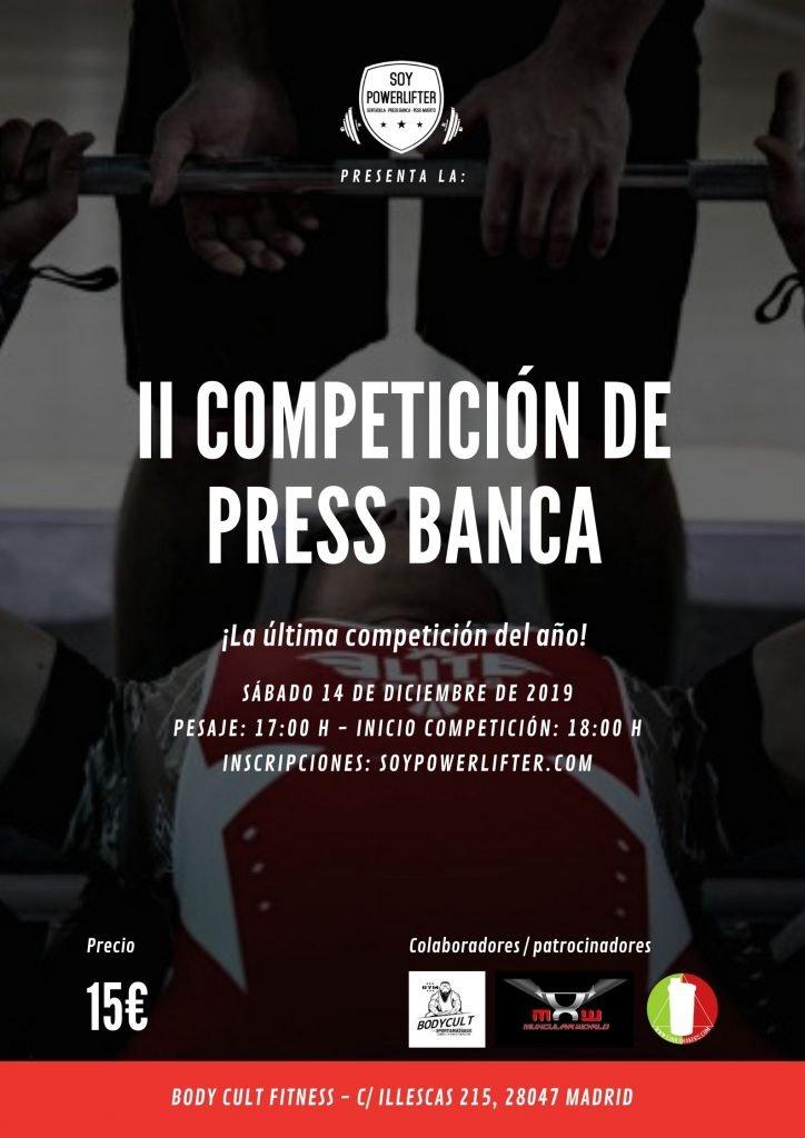 II Competición press banca
