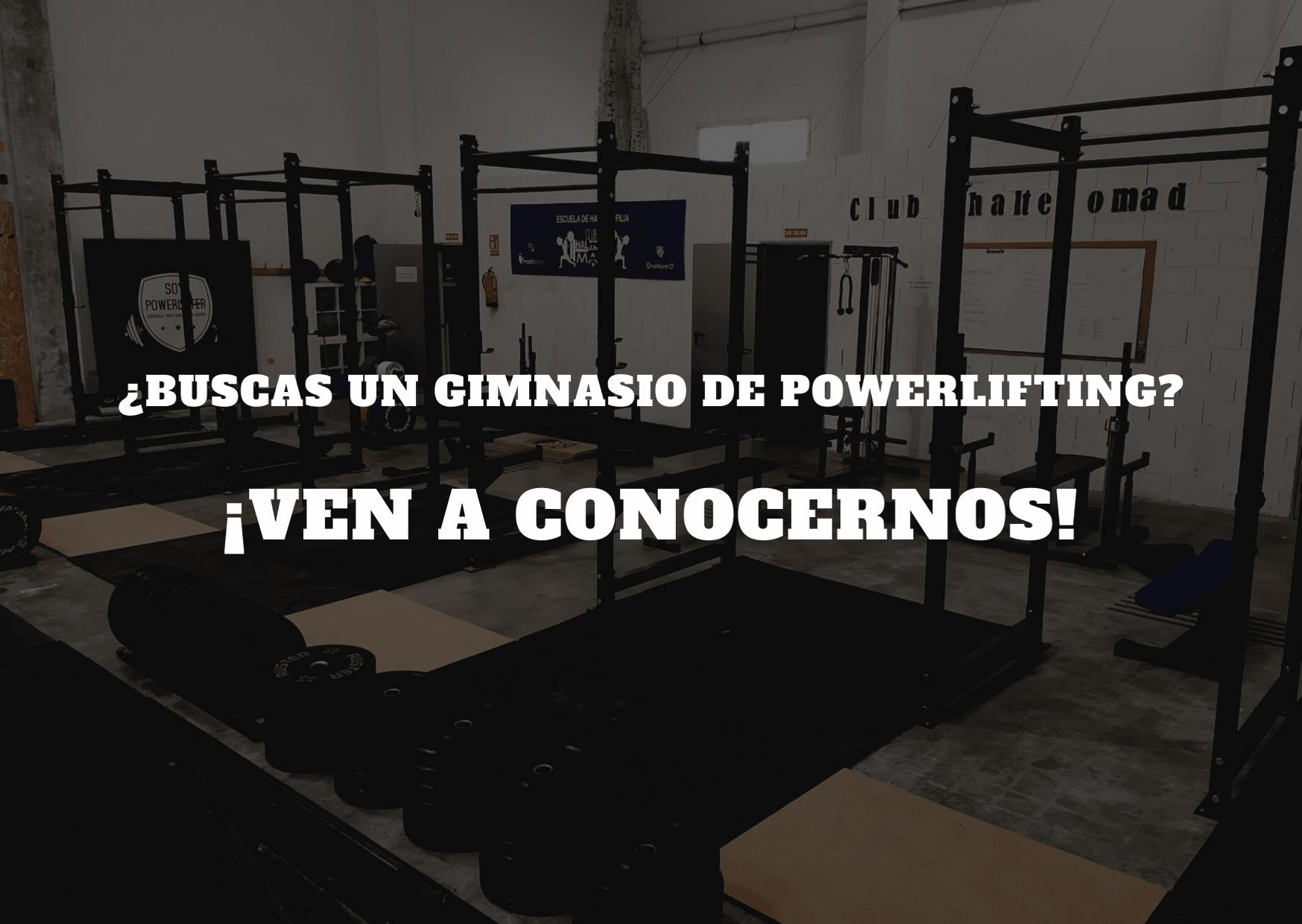 gimnasio de powerlifting